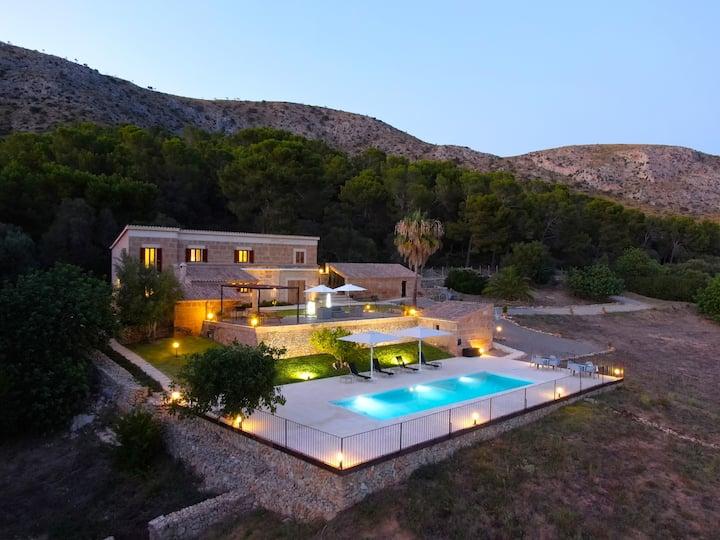 Villa Can Fe, preciosa villa con vistas al mar