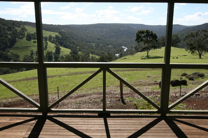The view from the balcony of Boronia Cottage