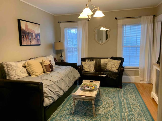 Living room- twin pullout trundle bed for extra guest.