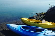 Kayaking is a wonderful way to explore the area and are available for rent