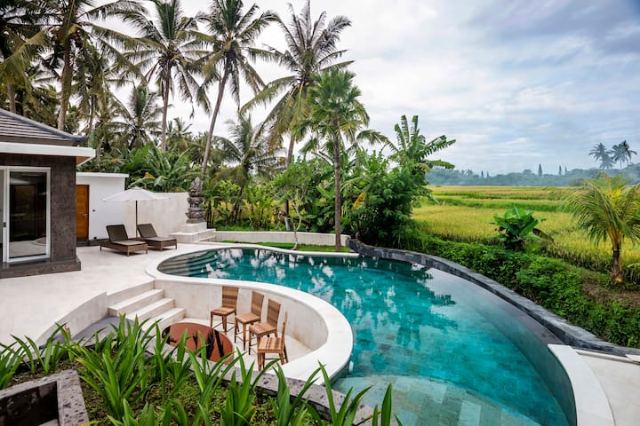 -70%- Elegant & luxurious 3 BR villa rice-fields pano