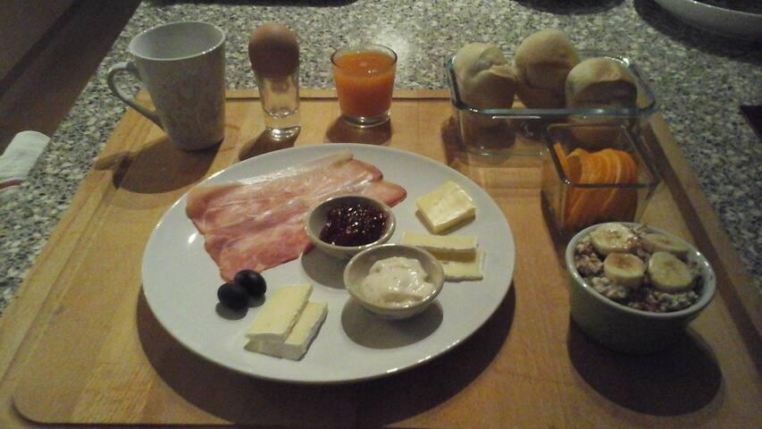 calme et pratique avec petit-déjeuner