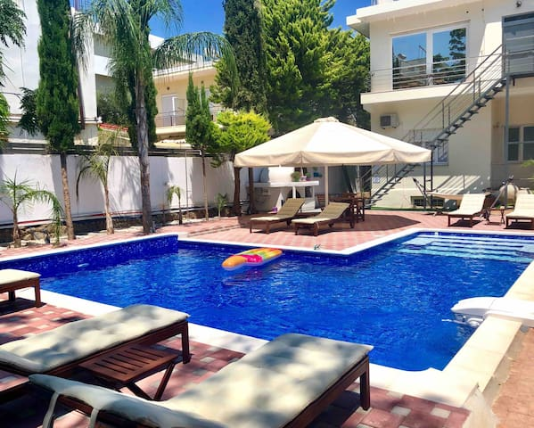 Villa 56- Apartment 4 with pool view,Rhodes City