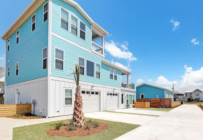 Our bright, sunny home was just built in 2019 and is in the heart of Kure Beach.
