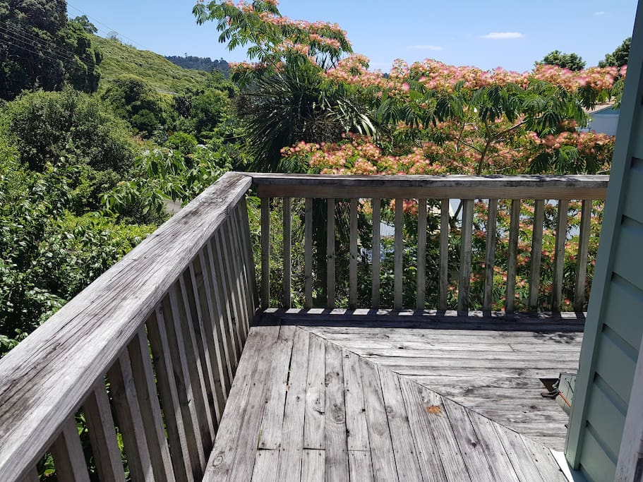 Private deck upstairs