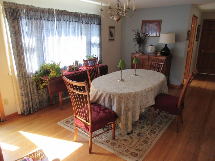 Dining Area with door to deck.