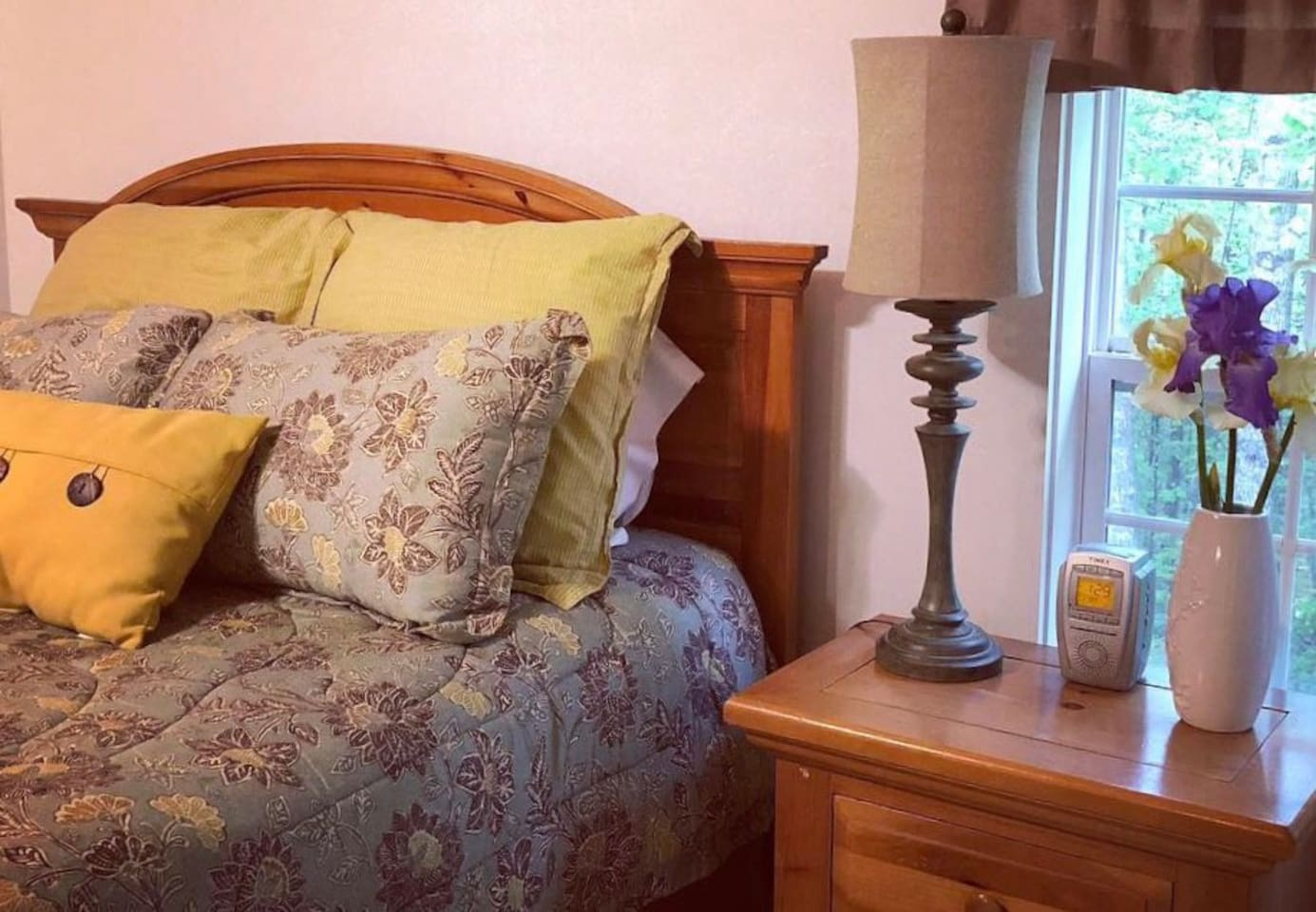The Charleston Room features a queen bed, en suite bath and private balcony.