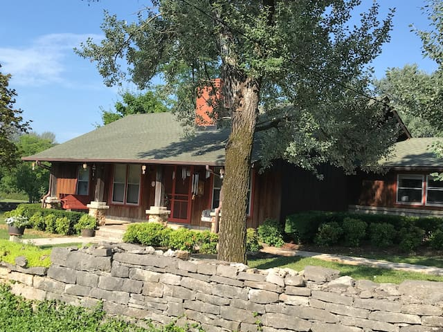 Country home in rural setting. Large lot with plenty of privacy for relaxing on the front porch or deck at the back.