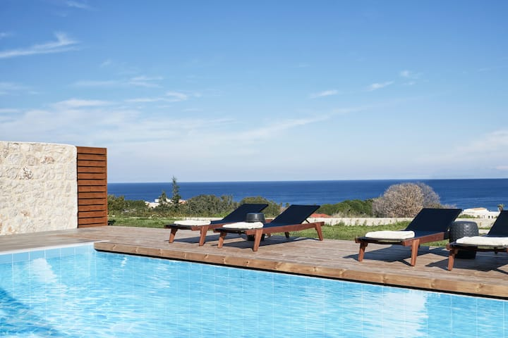 Captivating SeaView 3Bedroom Villa, in Rhodes