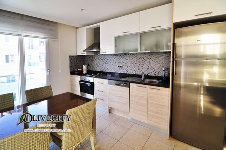 Familievennlig Leilighet i Alanya med 2 soverom - Cikcilli Belediyesi - Lejlighed