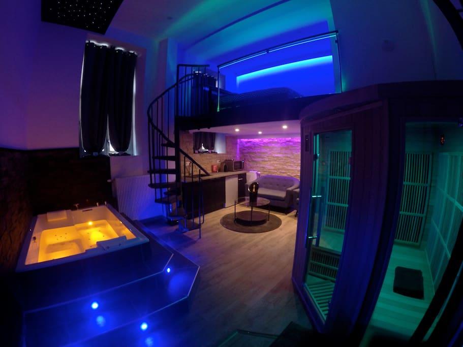 Spa priv avec jacuzzi appartements louer dijon Location chambre avec jacuzzi prive