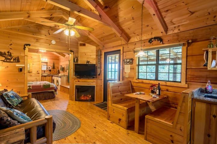 Cozy at Hot Springs Log Cabins!