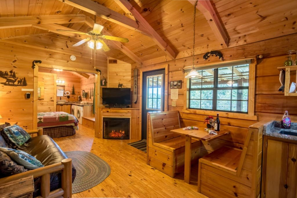 Cozy at Hot Springs Log Cabins!