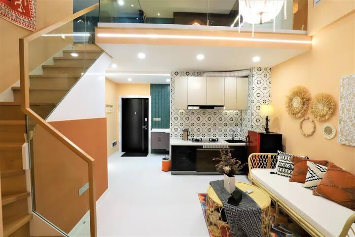 燕来民宿4店(夷陵万达/Loft/摩洛哥风格/品牌设计师/高级ins)