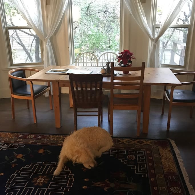 ...and sharing our dining room,