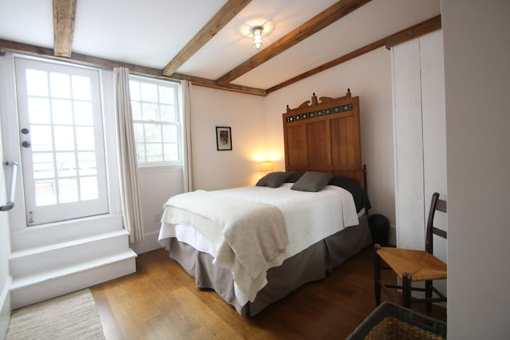 Bedroom 2, Queen Mattress With Access to Back Deck