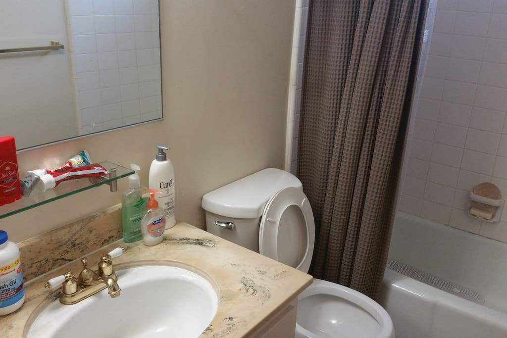 BATHROOM: Shared if both bedrooms rented. Powerful shower with everything else you'd need.
