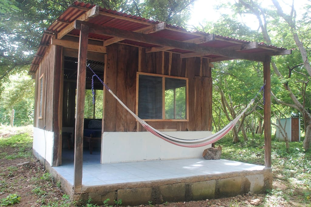 Enjoy the breeze and tranquility from your porch hammock