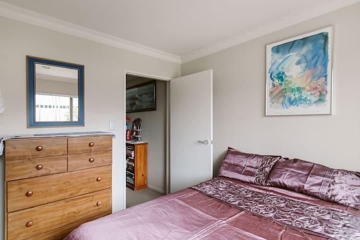 Warm, Spacious Bedroom