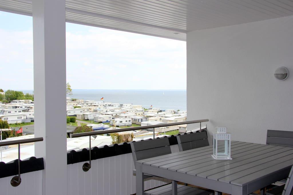 Balkon mit Ostseeblick