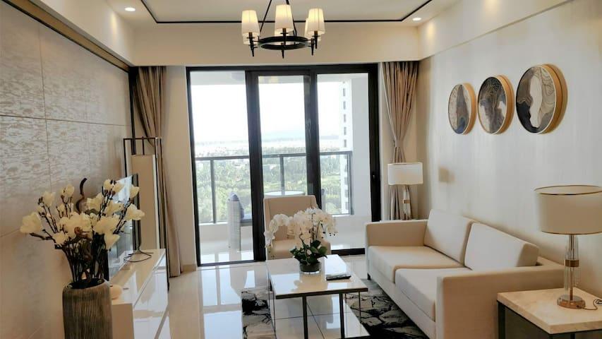 海棠湾温馨海景两房两卫超大阳台含早餐