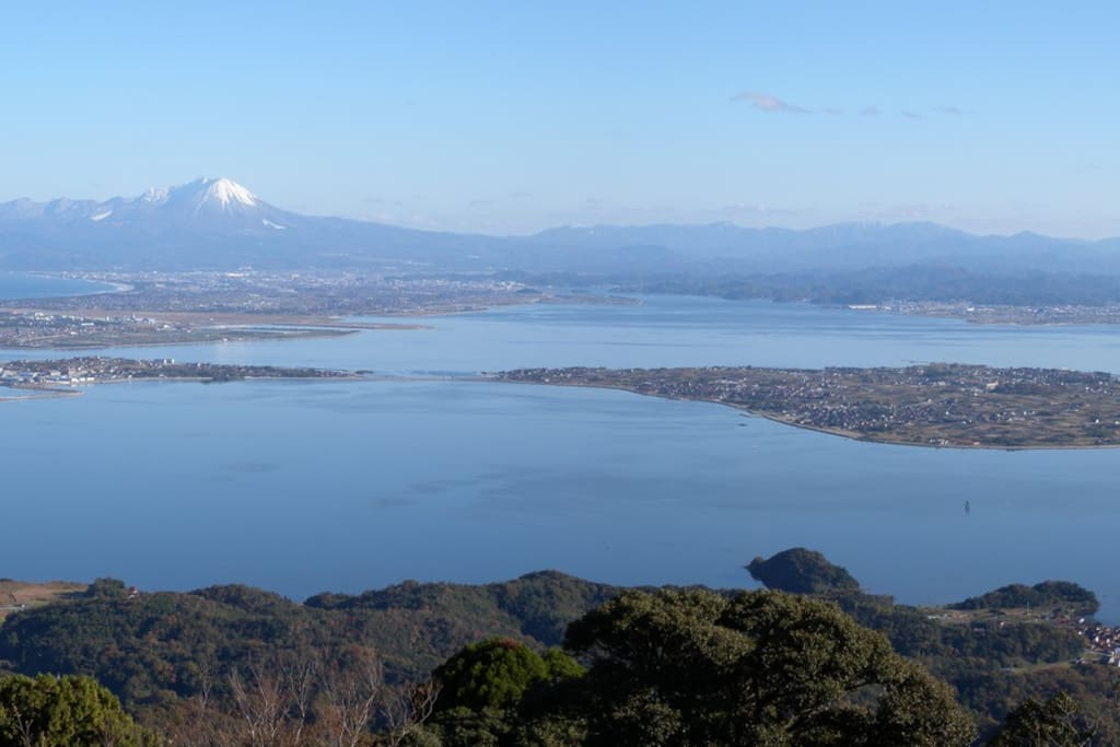 Daikon Island with Mt. Daisen and Lake Nakawumi