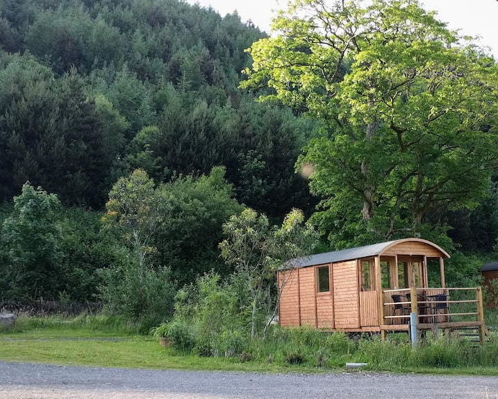 Amazing wooden heated Camping Hut in South Wales