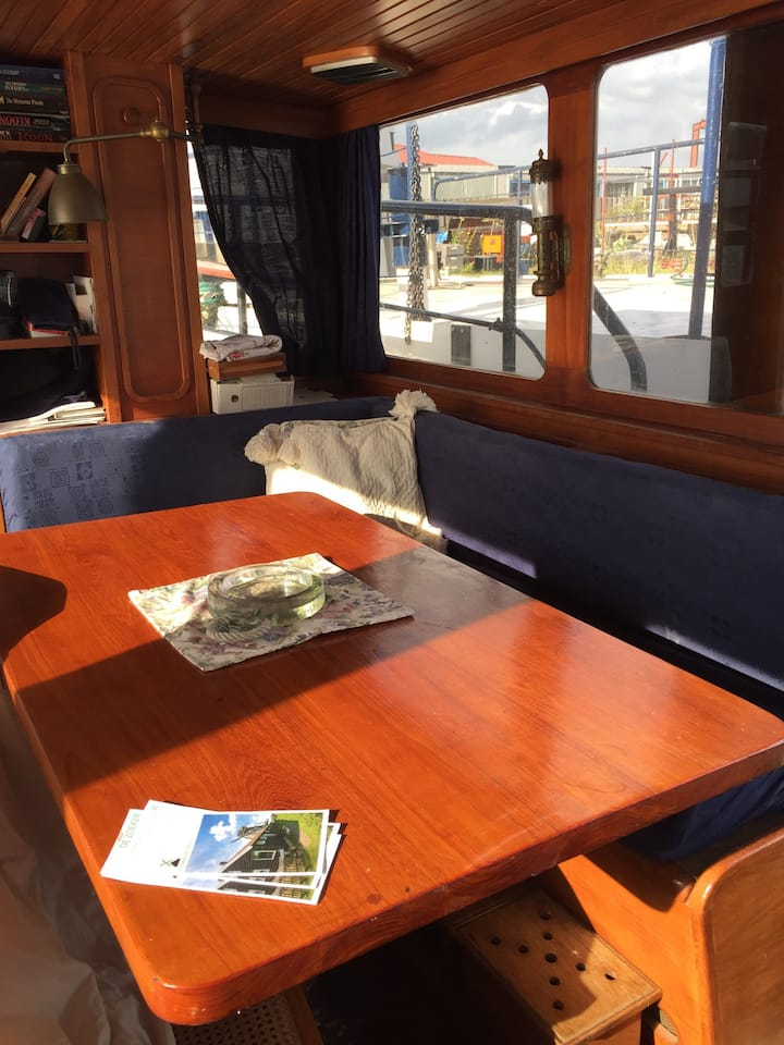 Unique houseboat at Zaanse Schans