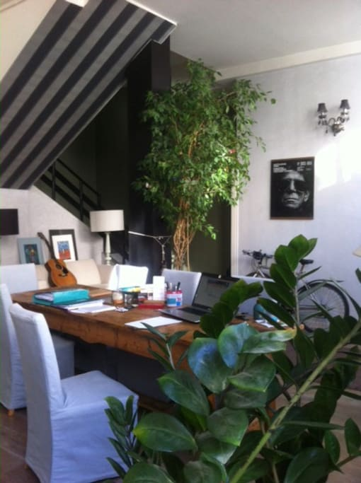 House loft in a private alley room w bathroom bed for Arcueil maison des examens