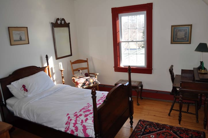 Guest room in NobleHome on the LaHave river.
