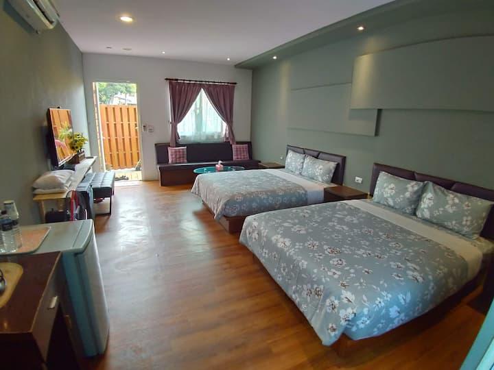 垦丁文艺庭院小屋-两床房/2张小双人床/限2-4人入住/私人卫浴