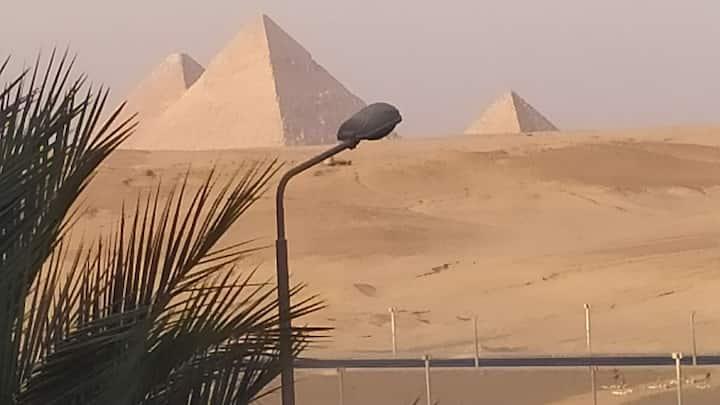 pyramids gardens  view  boutiques