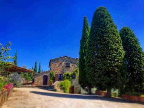 Villa with  private pool & Jacuzzi in Cortona