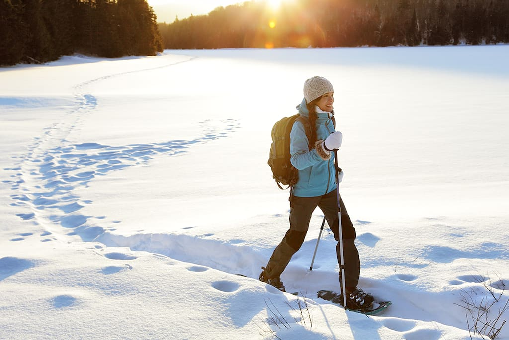 The Northwoods in Wisconsin is a perfect and pristine place for showshoeing and hiking in the winter.