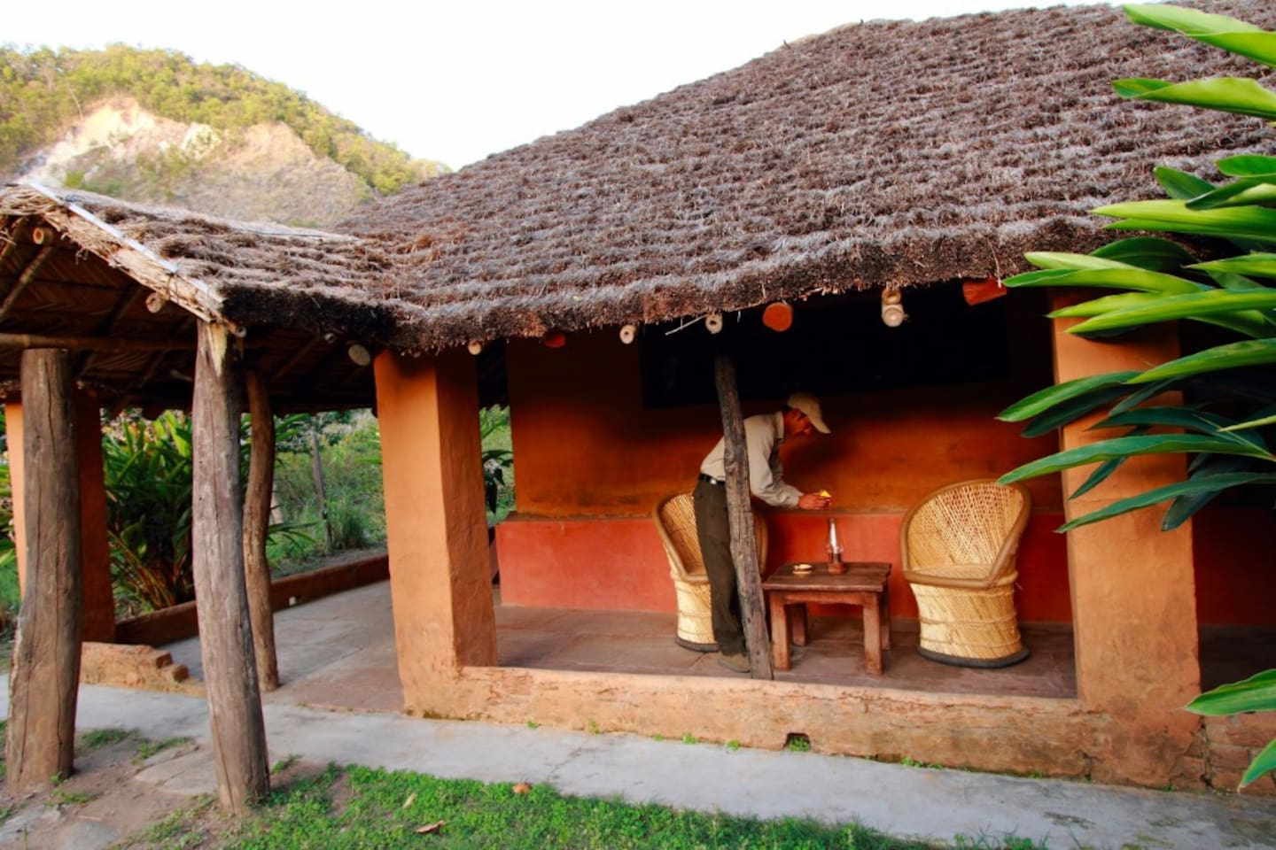 The Walking Safari Unhotel is a one of it's kind eco-lodge in Corbett