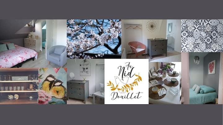 Au Nid Douillet ~ Chambre Coquille (familiale)