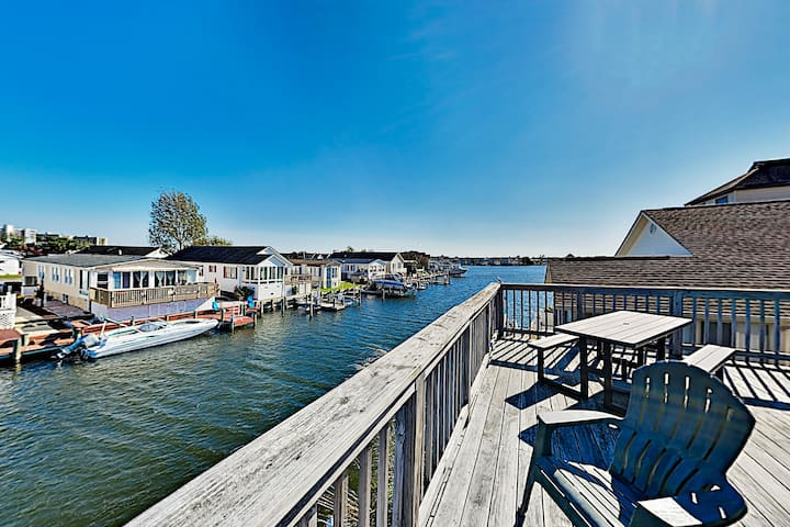 Quiet Canal-Front Home with Dock | Walk to Beach