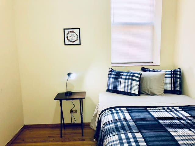 This might or might not be exactly your room. All the rooms are pretty much the same size and all have exactly the same furniture and amenities!