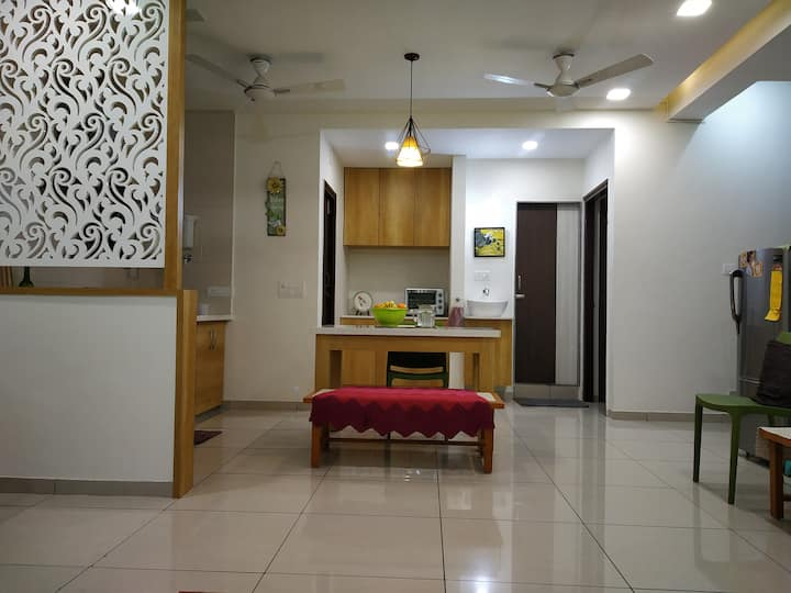 Sacred Space♥ 3BHK Condo Ideal 4 Family+AC/Hot wtr