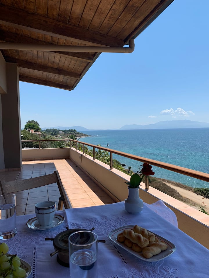 A suite with endless view to the Ionian Sea