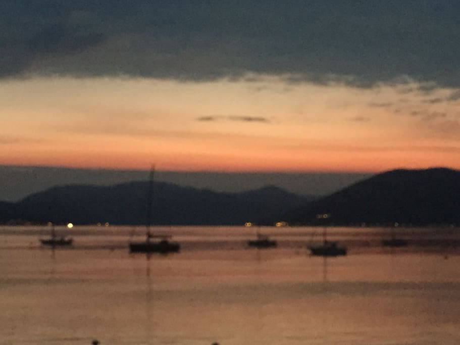 Stunning views on the Gourock esplanade which is seconds away from the flat