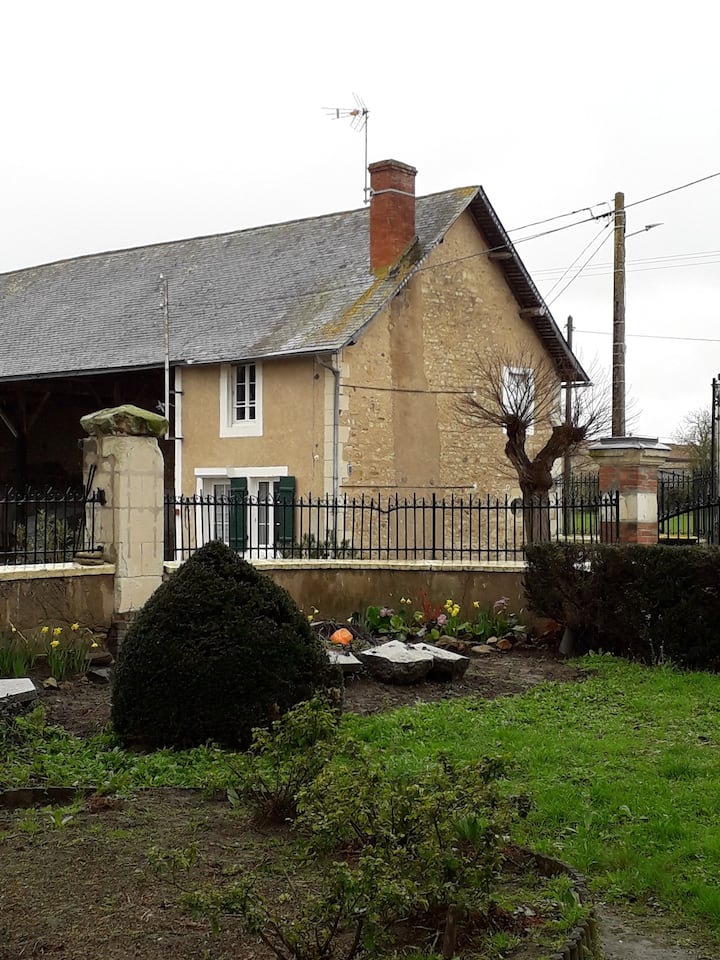 Farm cottage in courtyard