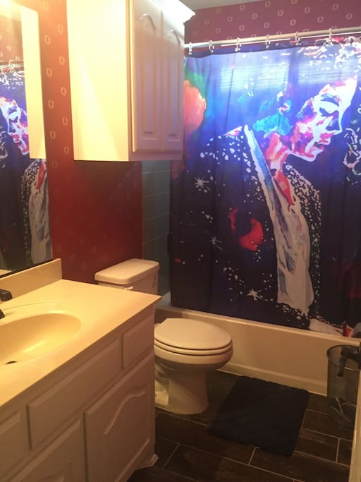 The restroom with MJ theme