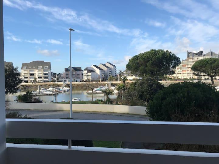 Agréable studio La Baule vue sur le port
