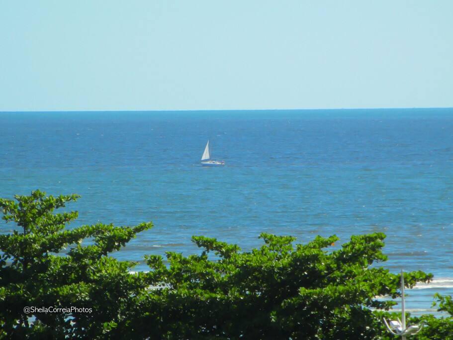 Vista do mar do apto (parcial)