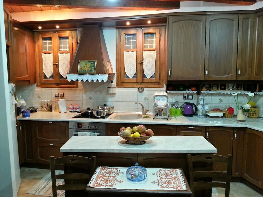 The kitchen. Fully equipped with all you need to prepare any meal you like.