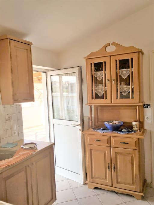 wooden cute kitchen