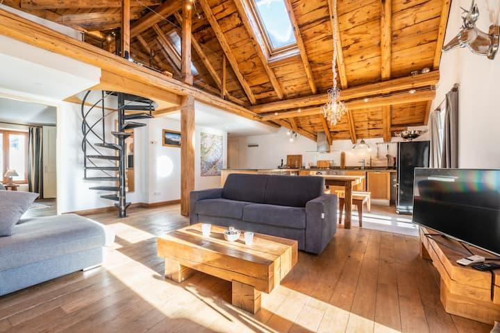 Appartement de Luxe avec Sauna au coeur du village