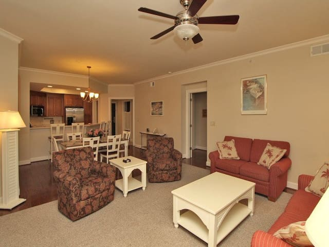 Living Room, Dining Area and Kitchen at 8123 Wendover Dunes