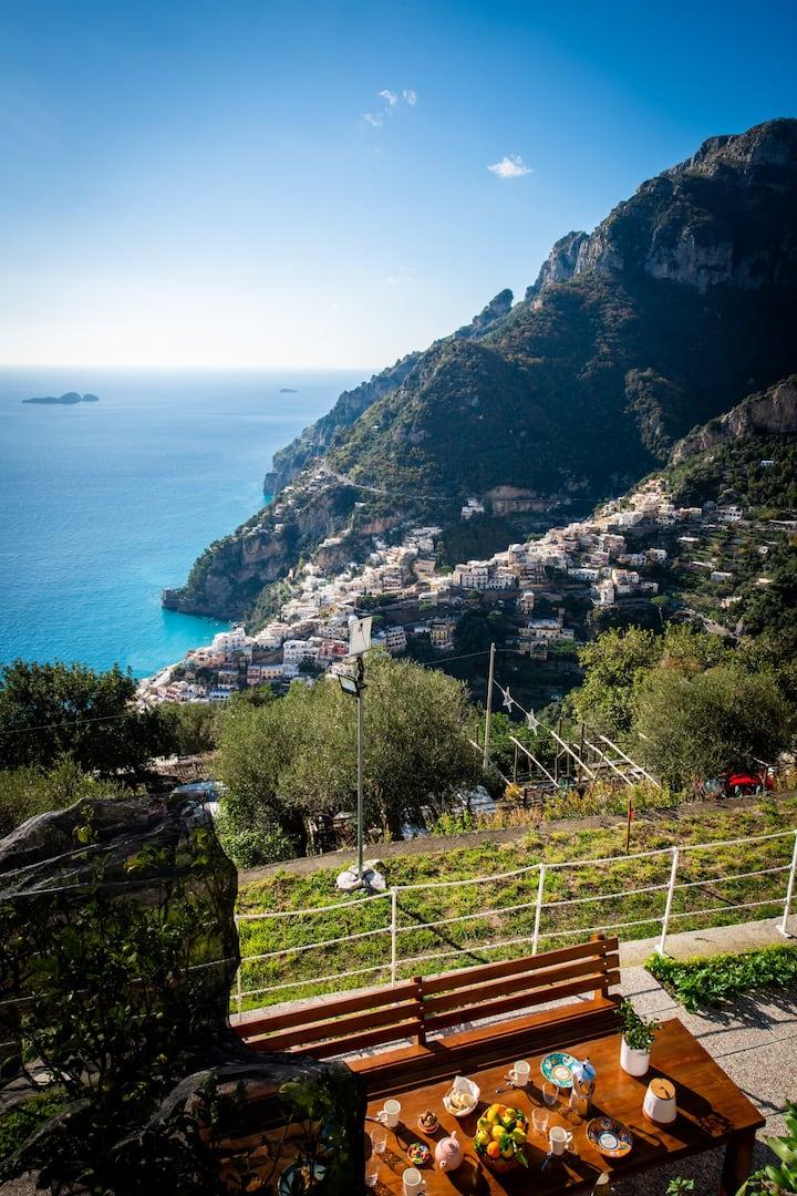 Casa Barba Positano, breathtaking views
